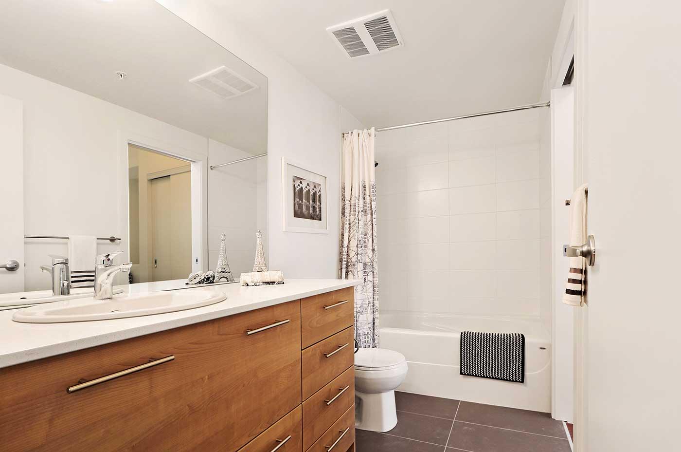 1215 Rental Apartments - One bedroom J2 Bathroom view