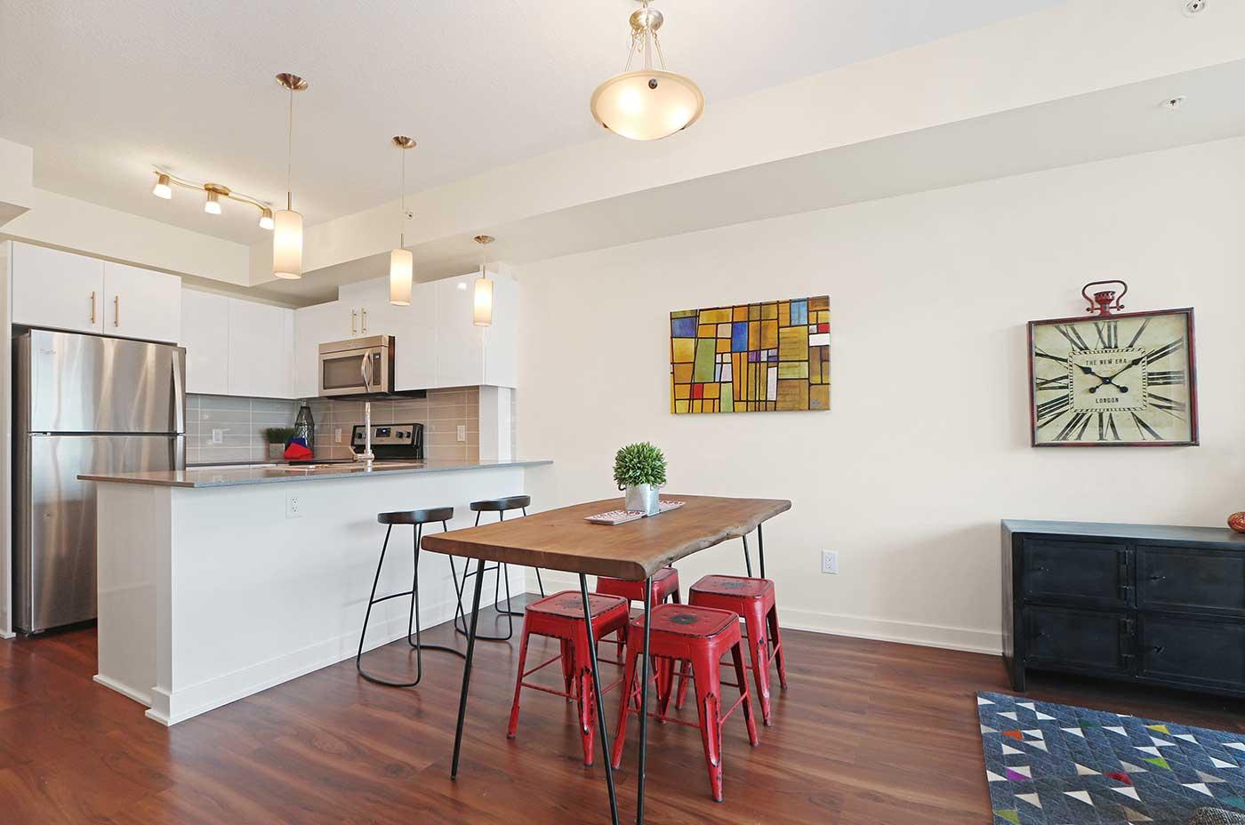 1215 Rental Apartments - One bedroom F2 Livingroom alternate view