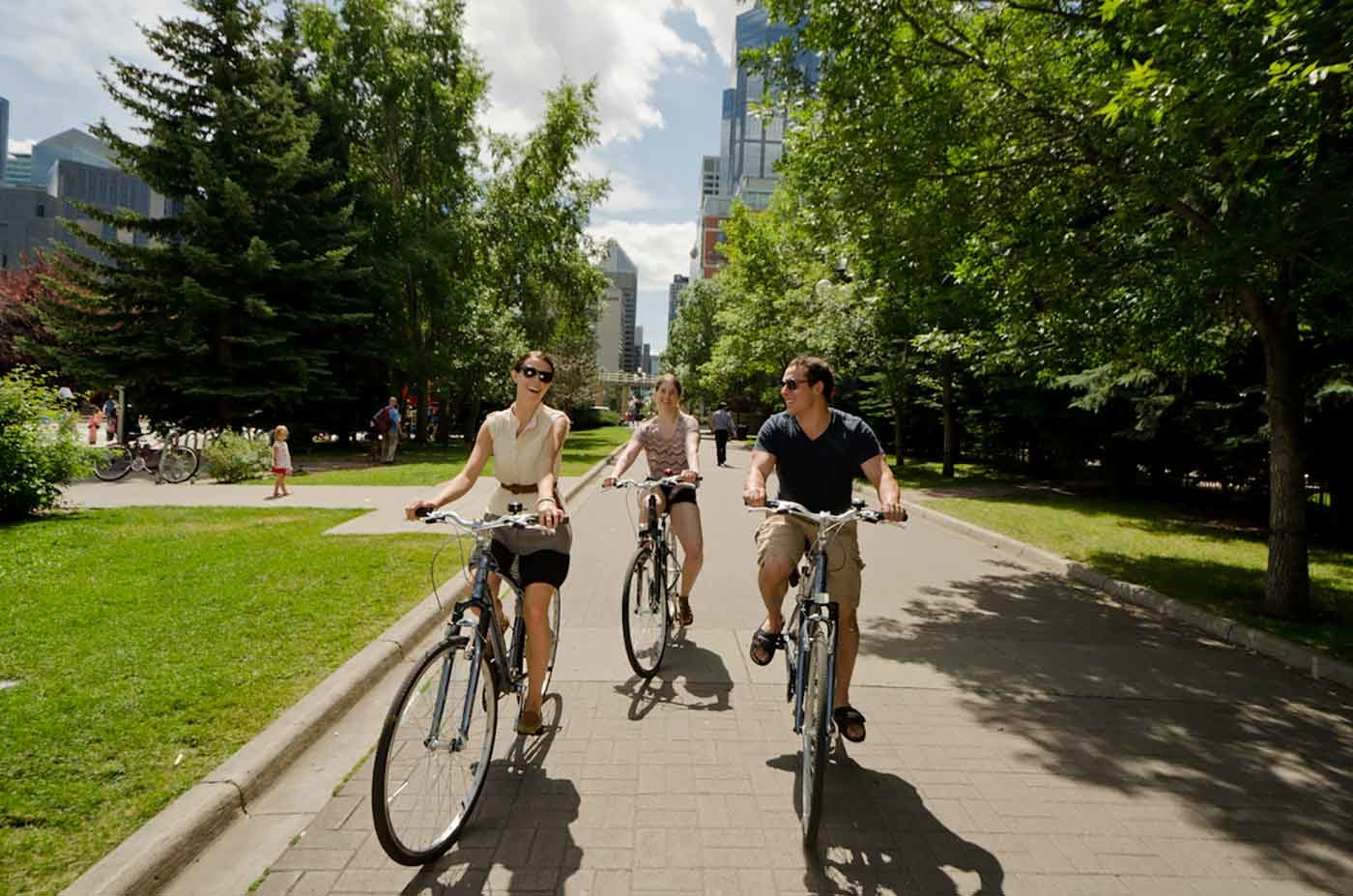 Calgary - cycling in a park