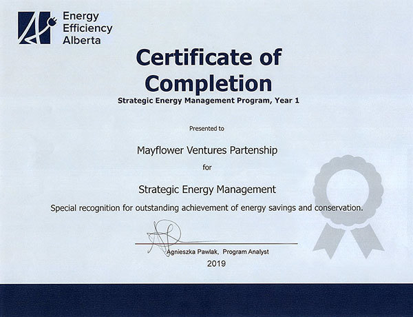 Alberta Strategic Energy Management Award